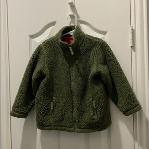 Land's End Boys Polar Fleece Green Size 4